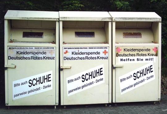 Container zur Sammlung von Altkleidung (Bild: Stefan Flöper, CC BY-SA 3.0)