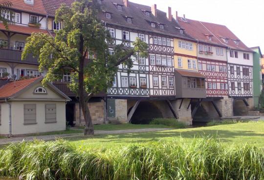 Häuserfront im Grünem (Bild: Silke Gebel, MdA; CC BY-NC-ND 2.0)