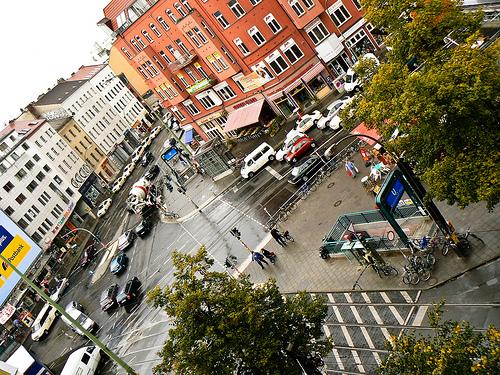 Rosenthaler Platz in Berlin-Mitte von oben (Bild: Borja Iza, CC BY-NC 2.0)