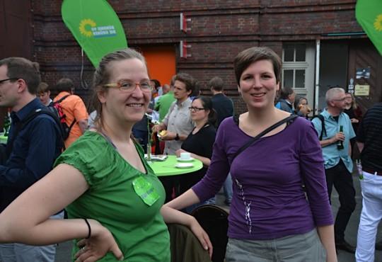 Silke Gebel und Carola aus dem Lavo (Bild: Silke Gebel, MdA; CC BY-NC-ND 2.0)