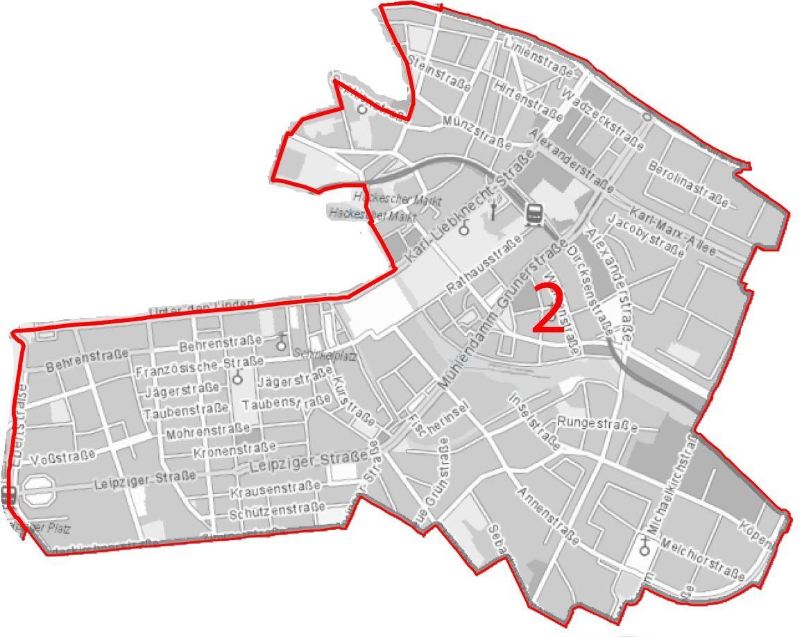 Wahlkreiskarte Mitte 2