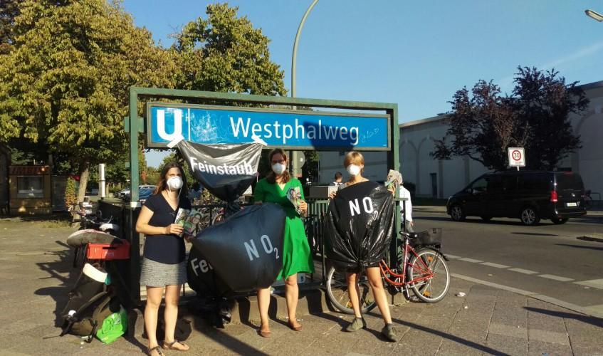 Aferdita Suka tritt in Mariendorf für saubere Luft an